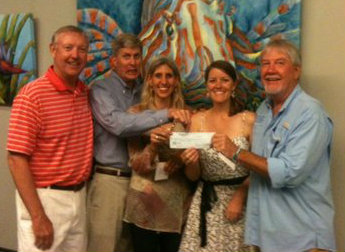 Sanctuary Friends presents $1,000 check to Sigsbee Charter School