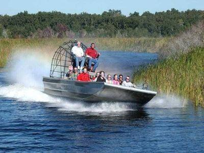 Iconic Airboat in the Everglades