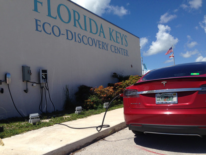 Electric Car Charging Station at Eco-Discovery Center