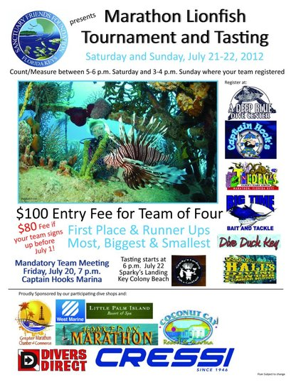 Marathon Lionfish Tournament and Tasting July 21-22
