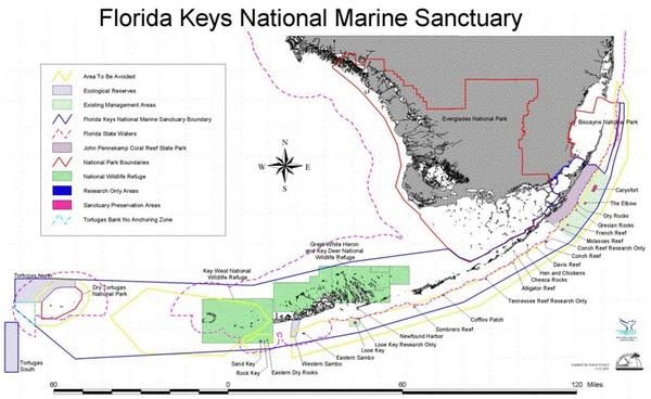 Florida Keys National Marine Sanctuary map
