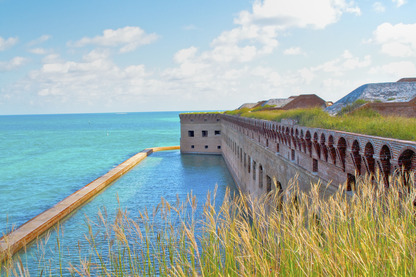 View of Dry Tortugas National Park from historic Fort Jefferson. Photo Courtesy Kelly Clark, National Park Service.