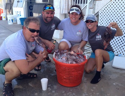 Team Raw Deal out of Castaway Waterfront Restaurant brought in 131 lionfish for the two-day tournament.